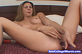 Hot College Chick Toying Her Ass