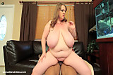No Sound: BBW Legend Sapphire 38L Fucks Big Black Cock on Table