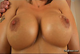 Big breasts blonde fucked hard and gets cum on tits