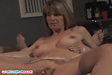 No Sound: Busty MILF fucks friend