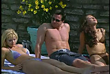 Awesome foursome by the pool with Peter North and Jewel