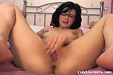 Cam: cute brunette fucking her juicy pussy hard 4 .flv