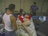 Allenina Transvestite from China is gang banged !