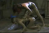 Lezzie Mudbath Wrestling by snahbrandy