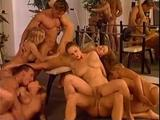 Birthday orgy at gym