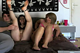 Ivi & Lola webcam threesome