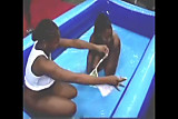 ebony bashment oil wrestling