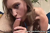 Teen slowly blows her boyfriend so she can fuck him later
