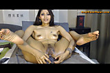 Web cam masturbation by naughty Leila