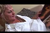 Anal Granny in White Fishnets Fucks