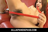 Adorable and kinky Suzuka Ishikawa uses a red rope