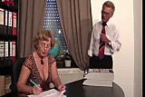 Mature Secretary fucks her old Boss