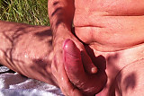 outdoor jack off and cum