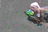 Blonde crazy anal gape