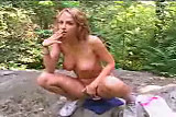 Teen girl smoking and masturbating