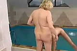 Big Titted Blonde Old Granny Fucked hard in The Po